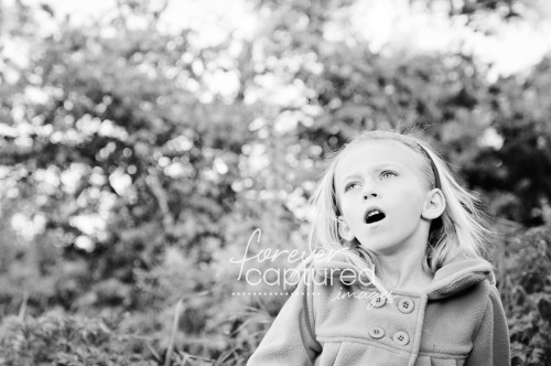 ~ Day 65 ~ Sophia ~ garden ~ singing ~ Black and White