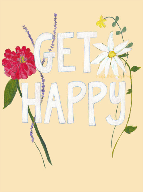 sproutedflowers:  (via Just Get Happy Flower Art Print by stubborndog on Etsy)