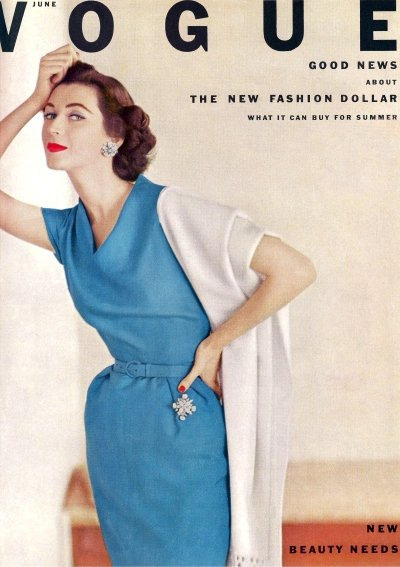 Dovima - Vogue June 1952 via Voguinett: