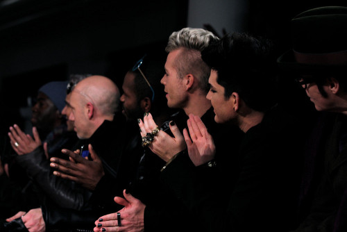 glitteryme:  Nice pic of the boys @ Blonds Fashion Show