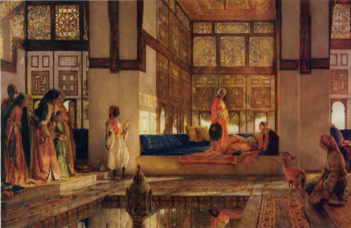 'The Reception'  John Frederick Lewis 1873