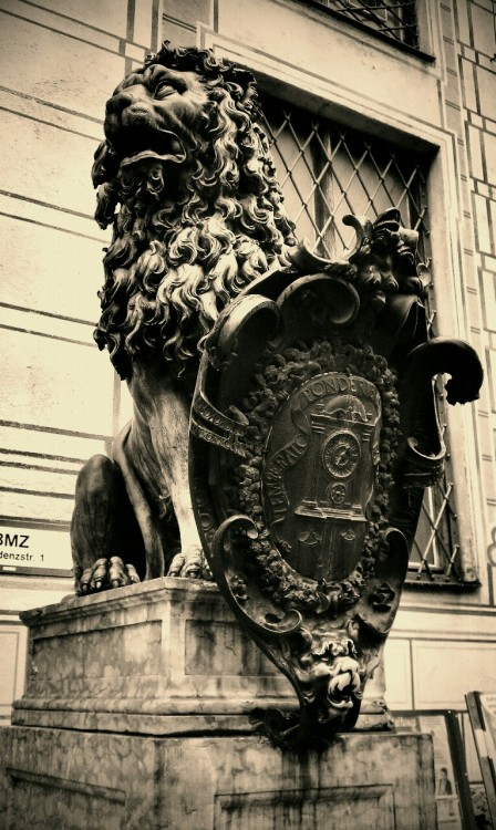 Lion at the Residence in Munich.