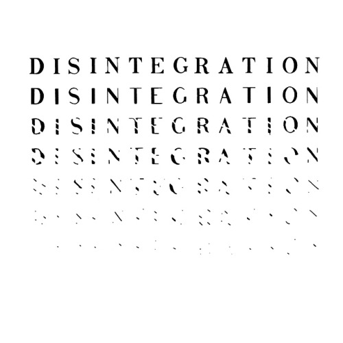 "visual-poetry:  ""disintegration"" by richard kostelanetz (1970)"