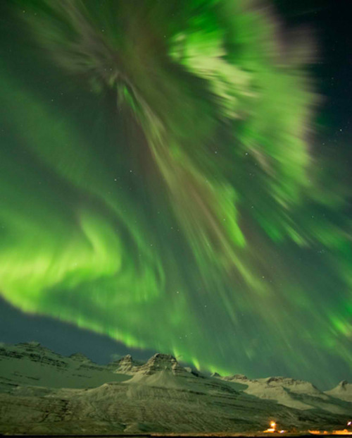 Solar Storm Paints Stunning Northern Lights Coronal mass ejections unleashed by Tuesday night's powerful X-class solar flares collided with Earth's magnetosphere yesterday morning, eventually sparking amazing displays of aurora around the world.