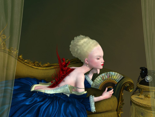Coming Undone - digital painting by Ray Caesar