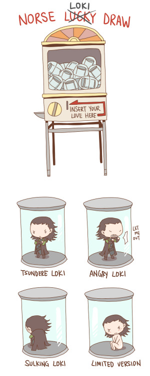 my mind is occupied with thoughts of Loki in a glass container after I saw this picture from avengers. :ddd