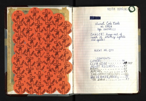 The Keith Haring Foundation scanned the journals featured in Keith Haring: 1978–1982 and will post a page a day for the duration of the show. The exhibition, on view at the Brooklyn Museum from March 16 through July 8, 2012, is the first large-scale presentation to explore the early works of one of the best-known American artists of the twentieth century. via keithharing