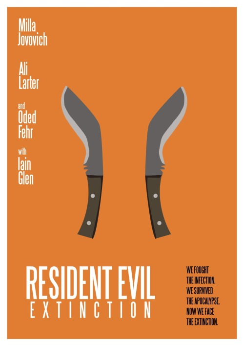 Resident Evil Extinction Minimal Movie Poster.
