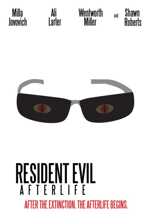 Resident Evil Afterlife Minimal Movie Poster.