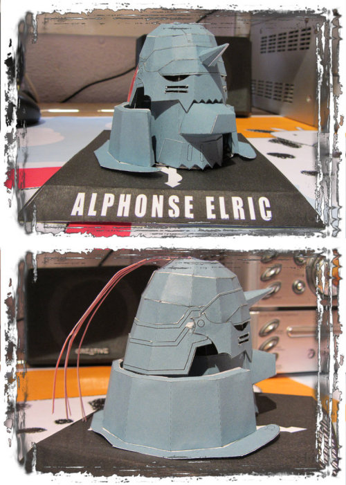 Al Elric Papercraft by ~Byakko92 By me :3