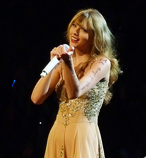 "Taylor Swift Arm Lyrics Sydney 03.10.2012: ""If Things Go Right, We Can Frame It And Put You On A Wall.""  by Ed Sheeran,Lego House"