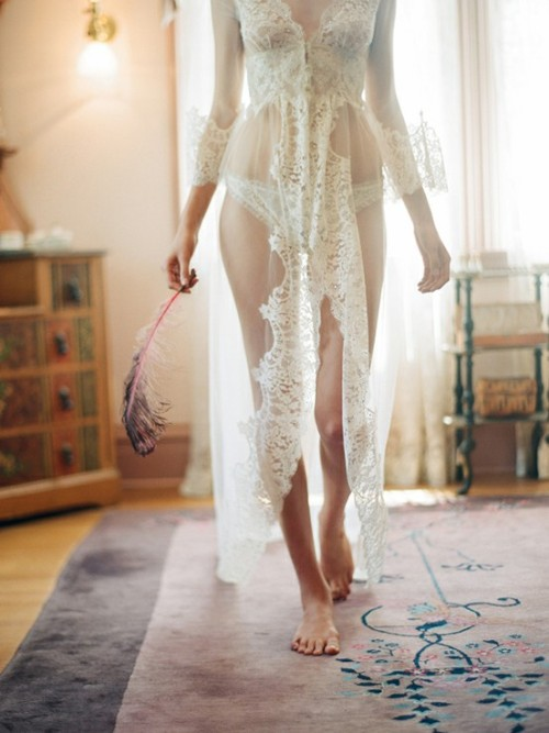 Wedding perfect! Claire Pettibone's Heirloom Lingerie.