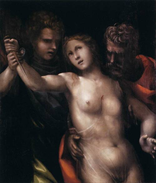 vcrfl:   Il Sodoma (Giovanni Antonio Bazzi): The Death Of Lucretia, 1513.