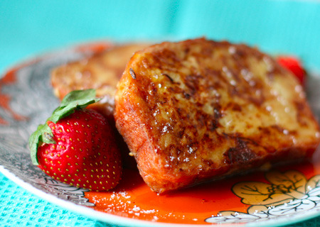 amaretto french toast from Love and Olive Oil