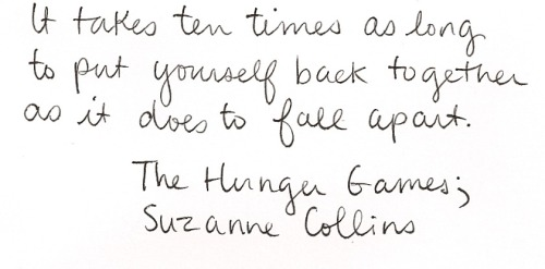 I love Collins' The Hunger Games. Not loving the fact that everyone's crazy about the movie though. I tend to not like things when they become too.. mainstream.