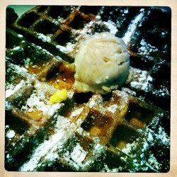 Sweet potato waffle! #hipstamatic #iphonography #breakfast #eggharbor (Taken with instagram)