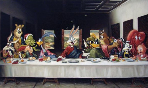 grimmyneverdies:  The Last Supper (Warner Bros.) by Chuck Jones Chuck Jones inspired me to become an artist.