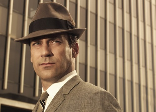"thedailywhat:  Celebrity Beef of the Day: TV's Don Draper is the latest celebrity to come out swinging against the growing trend of rewarding vapid, valueless individuals with unwarranted attention. ""Whether it's Paris Hilton or Kim Kardashian or whoever, stupidity is certainly celebrated,"" Jon Hamm told Elle UK. ""Being a f*cking idiot is a valuable commodity in this culture because you're rewarded significantly."" Last year, actor Daniel Craig made a similar splash when he took issue with the Kardashians making millions off ""behav[ing] like a f*cking idiot on television.""  In the same interview, Hamm also bemoaned the modern model of ""beauty,"" which he believes should be closer to the curves of co-star Christina Hendricks. ""Those of us who live in real life realize, especially as we get older, that beauty isn't just 22 years old, blonde, skinny with big t*ts."" [dailymail / realbollywood.]  I read this whole thing in Jon Hamms voice. lol"