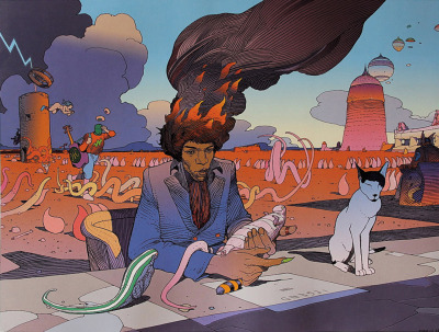 R.I.P :: JEAN GIRAUD aka MOEBIUS one of the greatest of ALL time, rejoice his life and the wonder & beauty he brought to us…+)