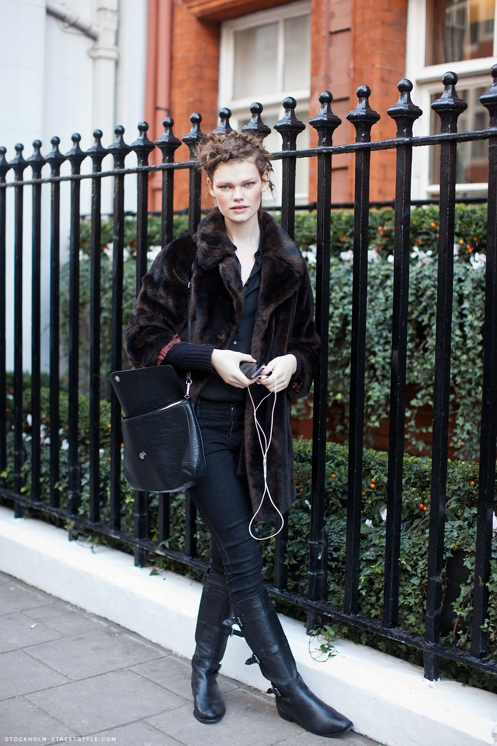 Streetstyle in Zara and vintage after Mulberry in London