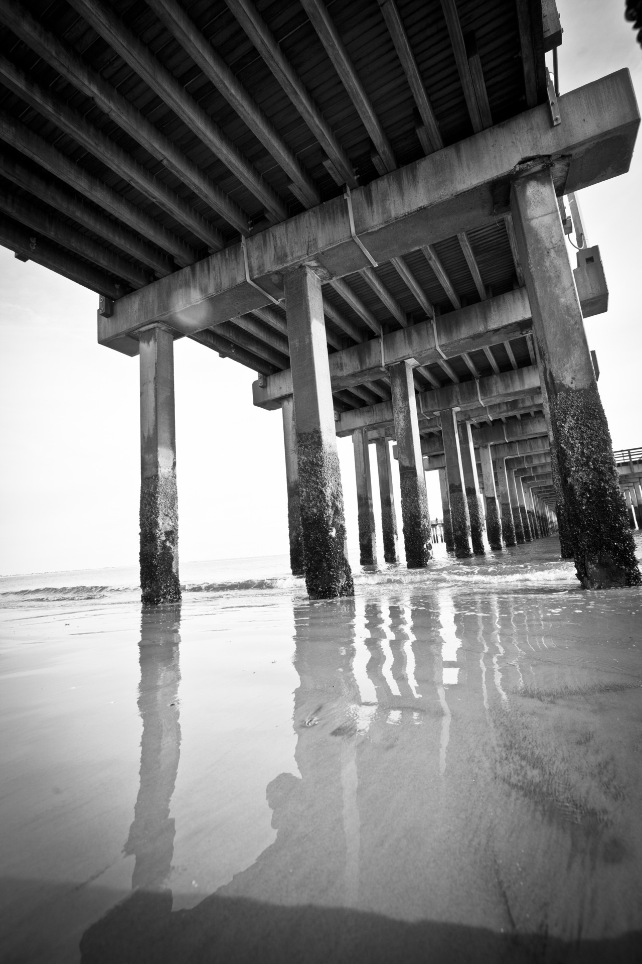 Under the pier. Cony Island Beach Canon 5D Mark II, Tokina 16-28mm f/2.8