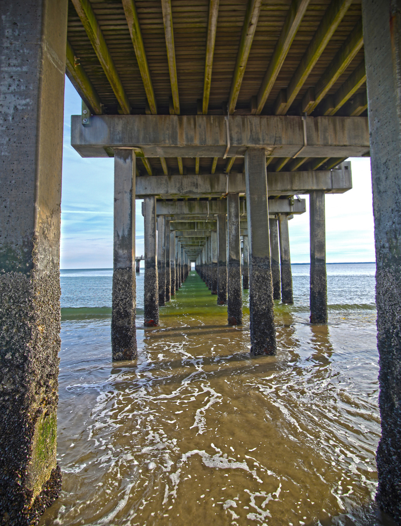 Under the pier. Coney Island Beach Canon 5D Mark II, Tokina 16-28mm f/2.8