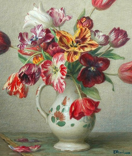Ernest Filliard Tulips in a Vase Late 19th - early 20th century