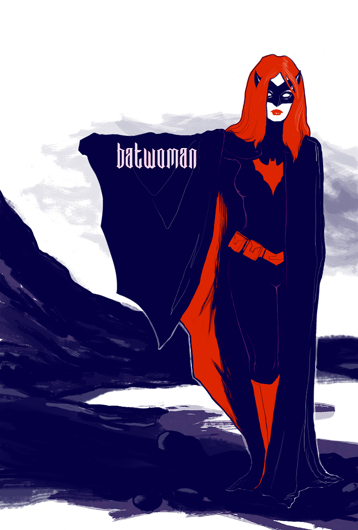 Batwoman by gorilla-girl:  see what i did there?