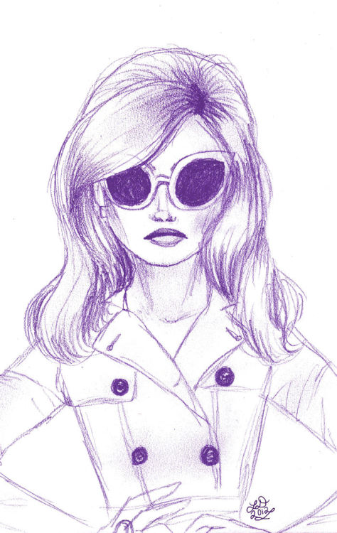 Drawing of a girl from a magazine