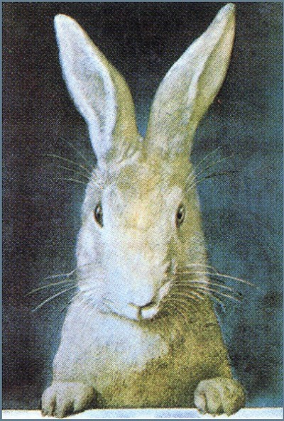 "petitpoulailler:  someforeignletters: Vintage rabbit illustration Petit: 1903 Frank S. Guild (American, 1856 - ?) ~ ""Easter""; cover for ""Ladies Home Journal"""