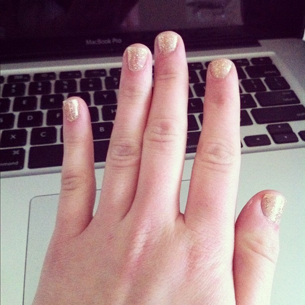 Sparkle and shine #diy #manicure #nails #mine #instagram (Taken with instagram)