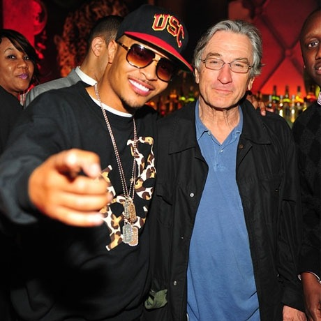 Rap superstar T.I. hanging out at an Atlanta nightclub … with 68-year-old Robert De Niro (via Robert De Niro — You Can Find Me in Da Club … with T.I. | TMZ.com)