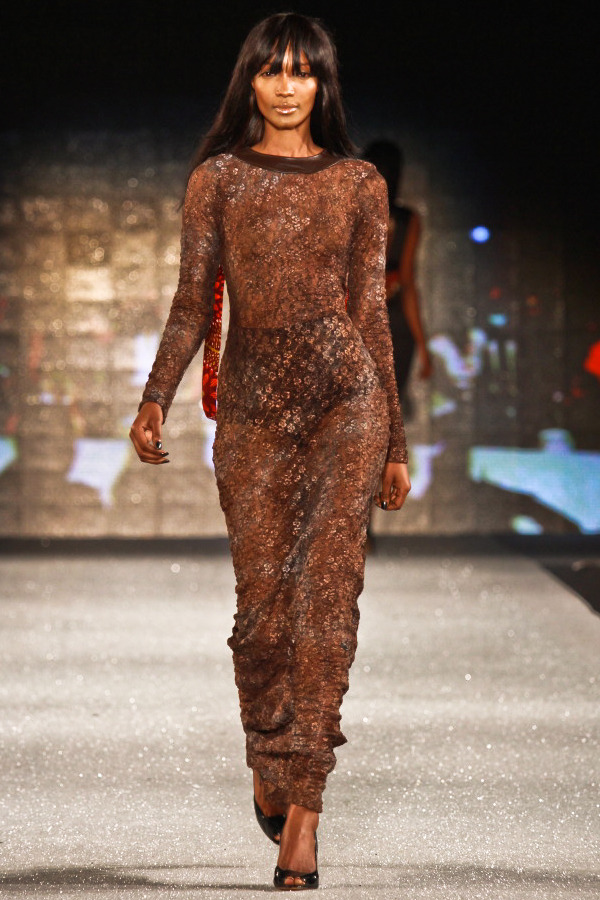 Millen Magese for Christie Brown at Arise Magazine Fashion Week Lagos 2012 Image: Reze Bonna