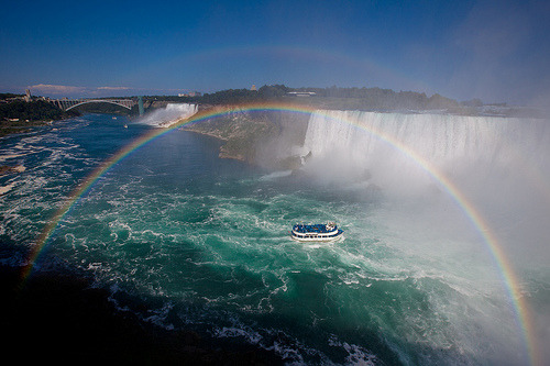 venimori:  Niagara Falls with Double Rainbow! *explored* (by Apricot Cafe)
