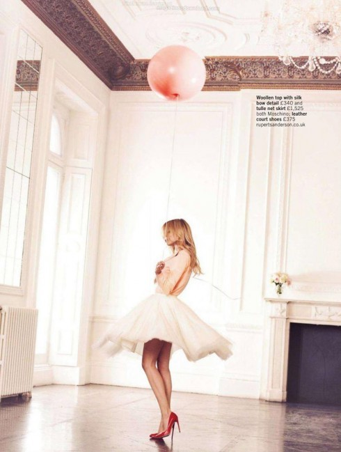 iloverunways:  clemence poesy, glamour uk  I kind of want this to be me.