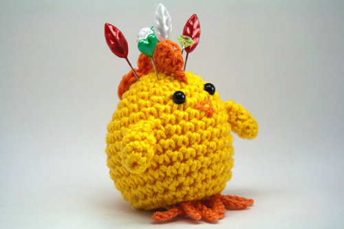 Can you have an Easter pincushion? This would be perfect! {Via MiniBytes on Etsy}