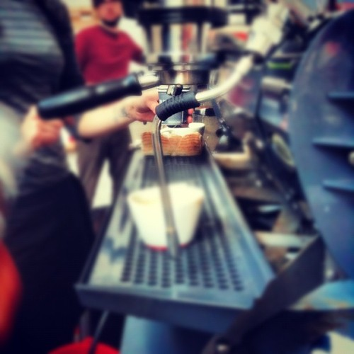 #Intelligentsia Double Espresso @ #Grind - Tasy fuel to keepagoin' - #ConferenceLife #coffee #sxsw #CoffeeIsMyCrack  (Taken with Instagram at Grind Austin)