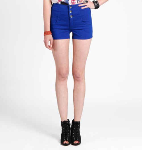 high waisted shorts with buttons adorable  and comy and chic