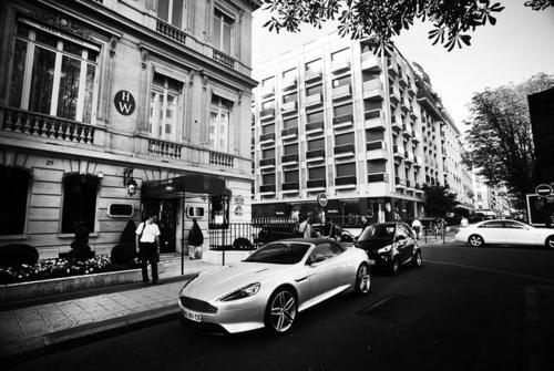 Aston Martin in urban environment photo