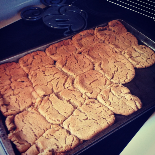 kaileygetsfit:  Healthy Peanut Butter cookies! Only 36 calories per cookie! Ingredients: 1 Cup Peanut butter 1 Cup Sugar 1 TSP baking soda 1 egg Mix the peanut butter and sugar first then add in the egg and baking soda. Bake for 10 minutes on 350 degrees. They're delicious! I AM GOING TO DO THIS NOW! but without the the baking soda.. you dont need it that much do you? Just made these and they are really yummy! Very sweet though.