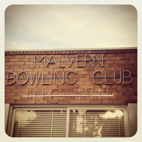 Malvern Bowling Club iron type (Taken with instagram)