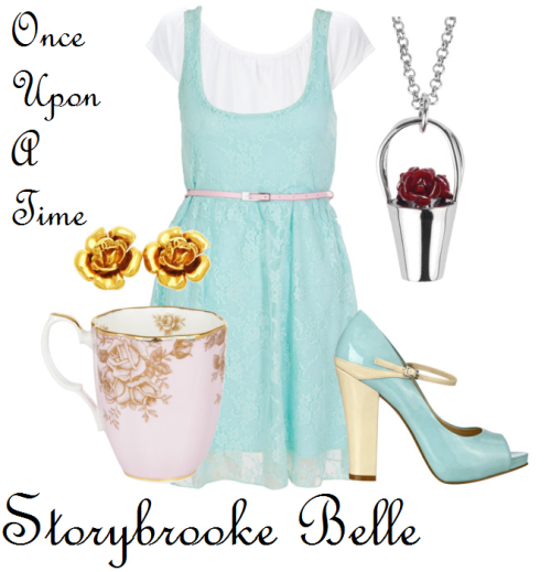 beautifulbookwormbelle:  I made an outfit for Storybrooke Belle from Once Upon A Time. This outfit was inspired by the show, and DisneyBound ^_^ I may do a RumBelle set in the future. Details here: http://crystallizedheart.blogspot.com/2012/03/storybrooke-belle-outfit.html