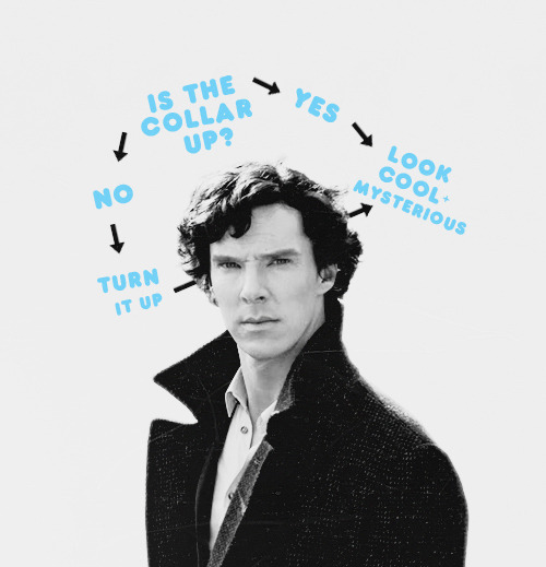 TEN DAY SHERLOCK CHALLENGE : DAY 1; favorite male character ≡ sherlock holmes Sherlock and his second most essential thought process (the first one being John-John-John-Jaaaawn of course)