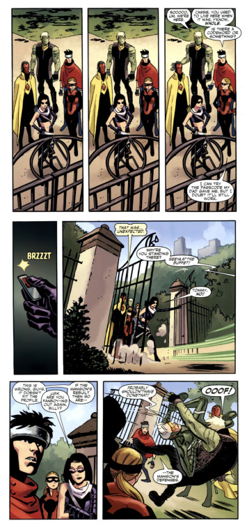 "The Young Avengers arrive at the Avengers Mansion I Am An Avenger—""Homecoming"" by Jim McCann and Chris Samnee [click for larger]"