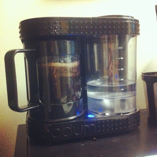 Semi-Automatic French Press (Taken with instagram)