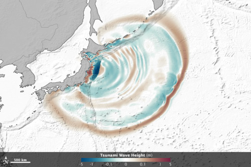 The Seafloor Focuses and Merges Tsunami Waves via @nasa_eo #remotesensing
