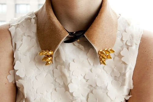 We want this faux-hide studded collar to harden up even the most romantic of outfits.