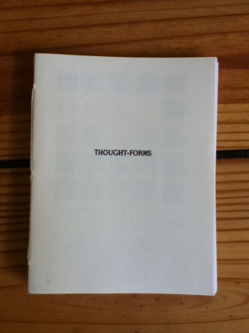 """Thought-Forms"" (Selections, printed for Tonalism, March 10, 2012"")"