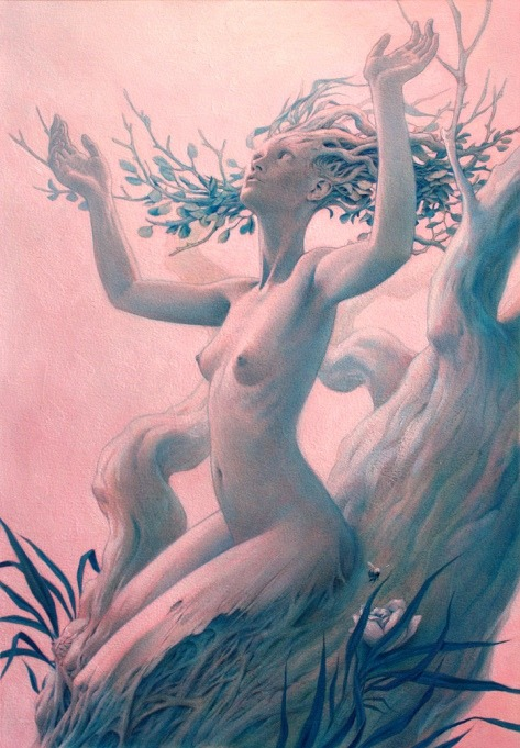 victoriousvocabulary:  MELIAE  [noun] Greek mythology: nymphs of the ash tree, whose name they shared. They appeared from the drops of blood spilled when Kronos castrated Ouranos, according to Hesiod, Theogony 187. From the same blood sprang the Erinyes, suggesting that the ash-tree nymphs represented the Fates in a milder guise.