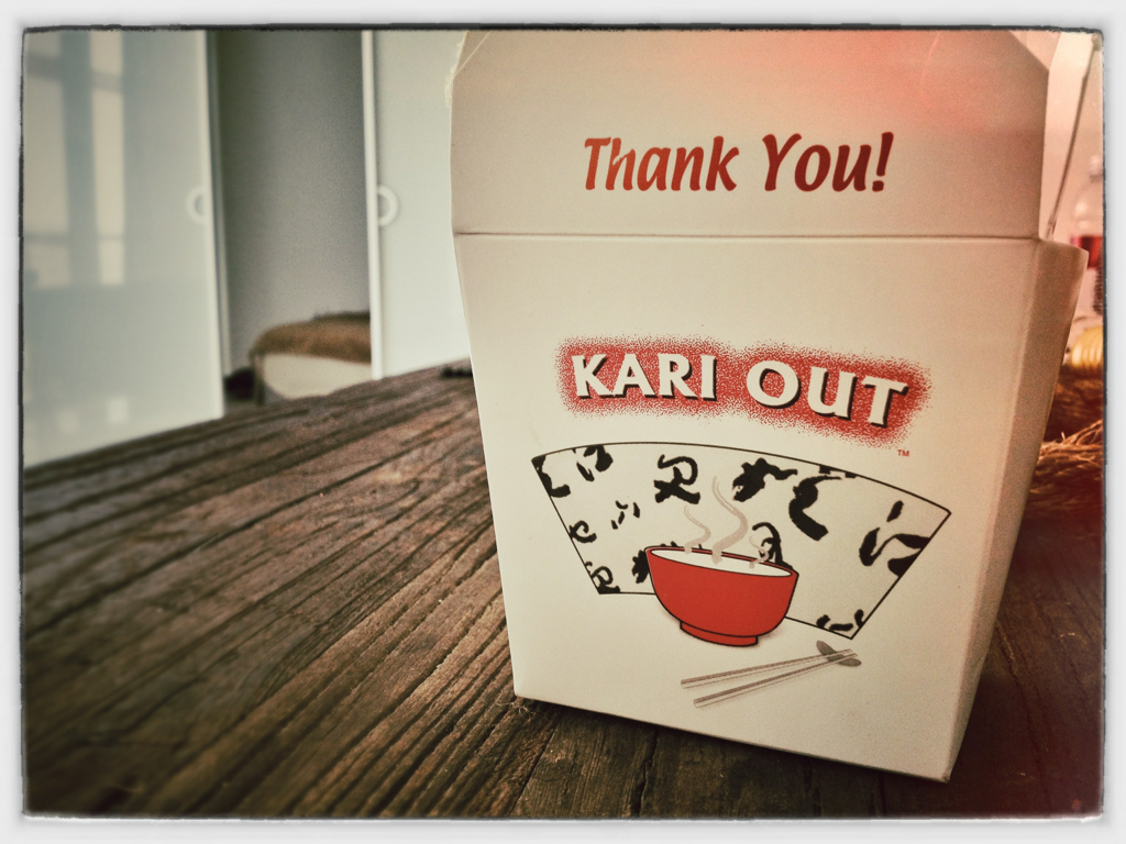 Kari out = Carry out?